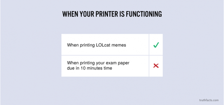 When your printer is functioning