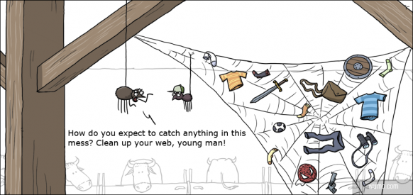 Clean up your web. young man!