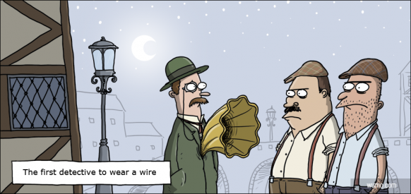 The first detective to wear a wire