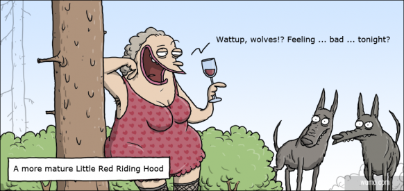 A more mature Little Red Riding Hood