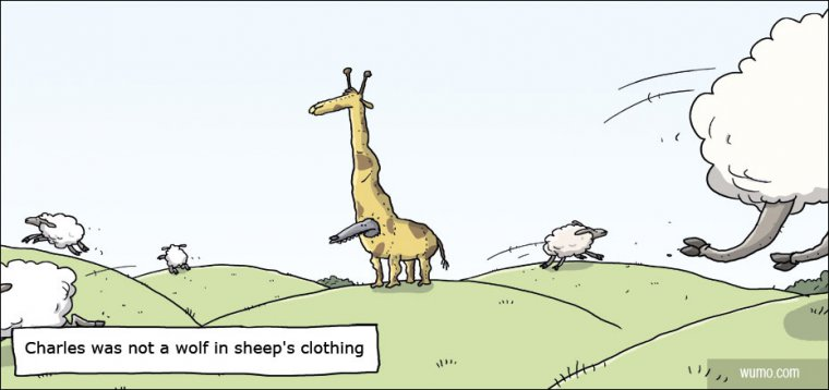 Wolf in sheep's clothing gone wrong