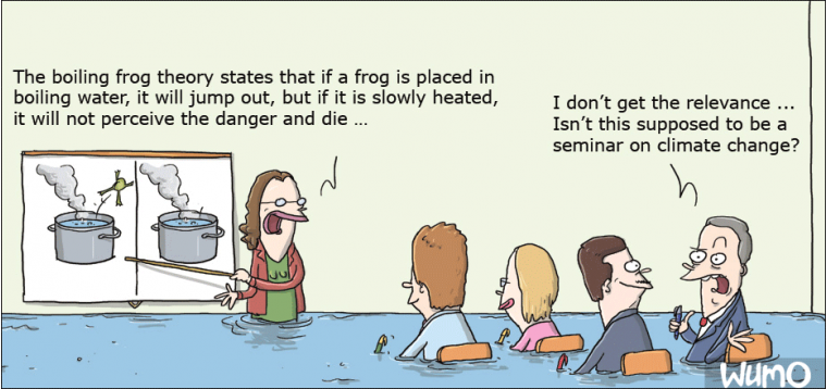 The boiling frog theory