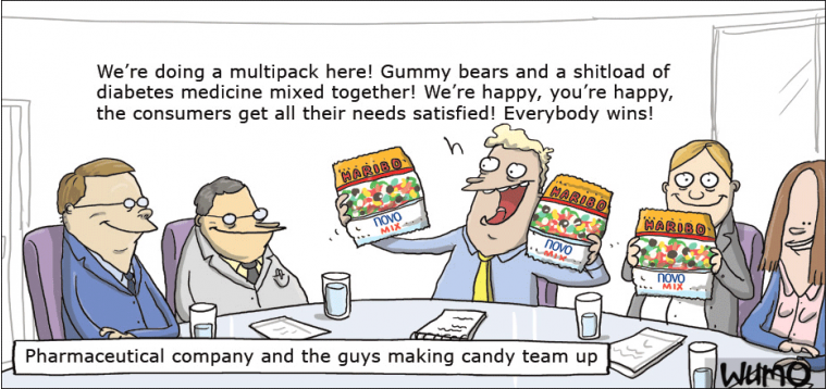 Gummy bears/diabetes medicine