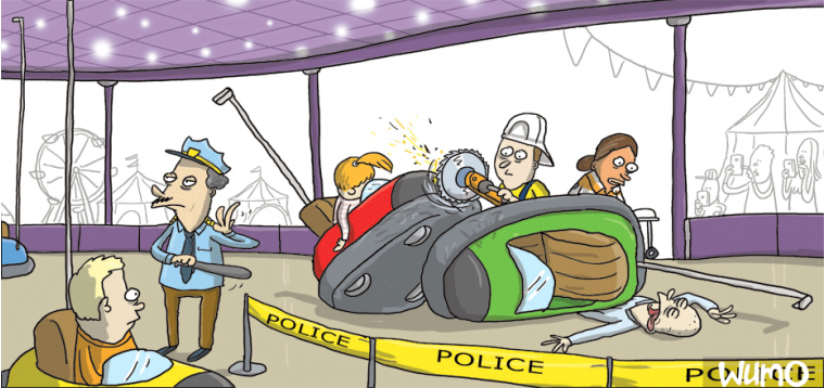Bumper car accident