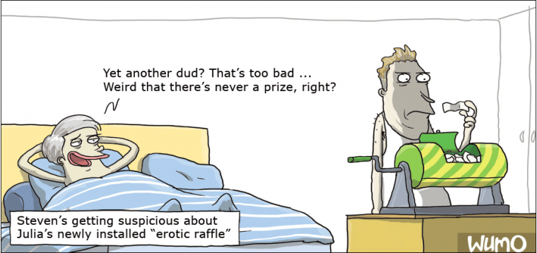 The erotic raffle