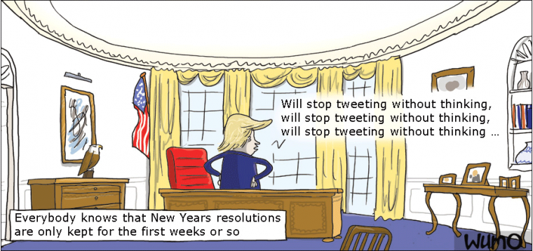 Remember to keep your resolution, Donald