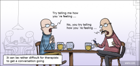 Therapists meeting for a beer