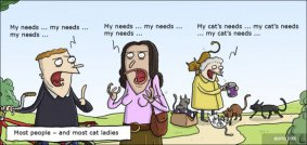 The difference between cat ladies and most people