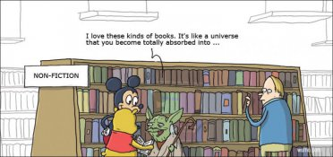 Yoda interested in non-fiction