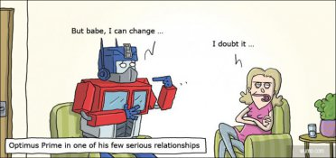 Optimus Prime in a serious relationship