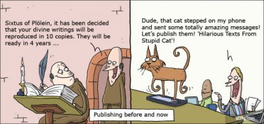 Publishing before and now