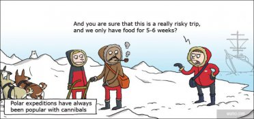 Cannibals love polar expeditions