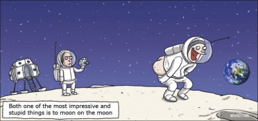 Mooning on the moon
