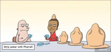 Strip poker with Pharrell