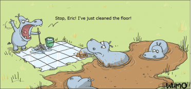 Just cleaned the floor, Eric!