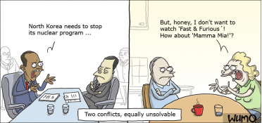 Two conflicts, equally unsolvable
