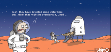 Water sports on Mars