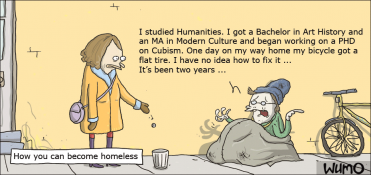 How an academic can turn homeless