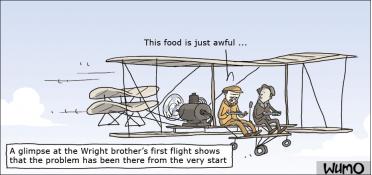 Airplane food has always been bad