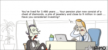 Pension plan for a vampire