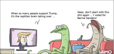 The reptilian brain voted Bernie
