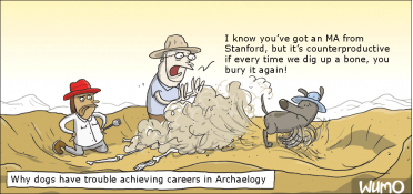 Why there are no dogs in archaeology